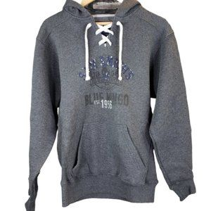 J America Lace Up Popover Graphic Hoodie Small